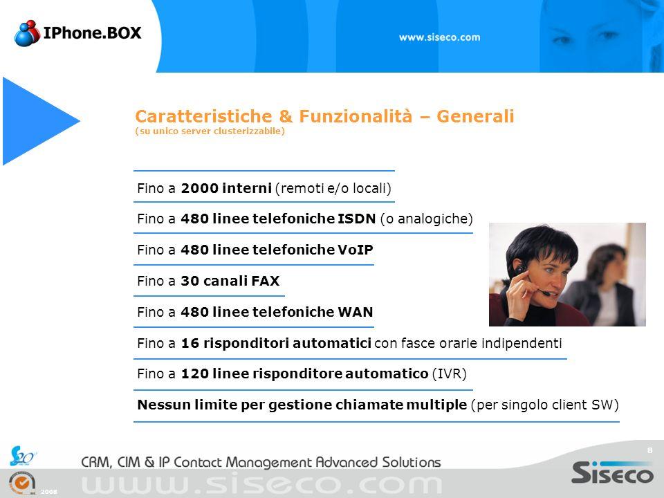 Caratteristiche & Funzionalità – Generali