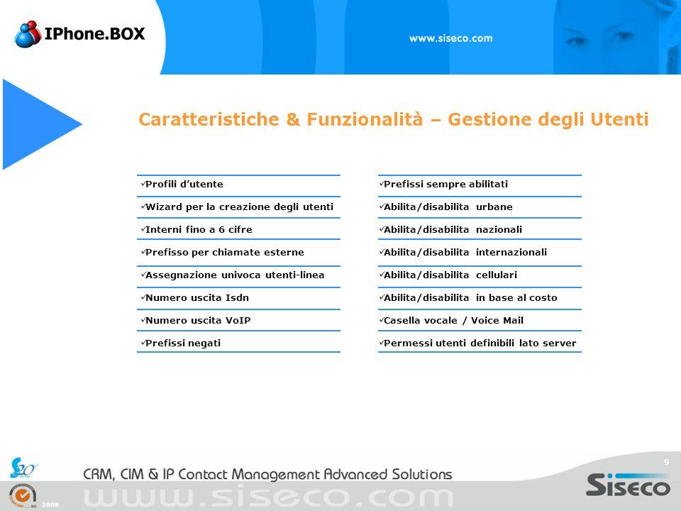 Caratteristiche & Funzionalità – Gestione degli Utenti