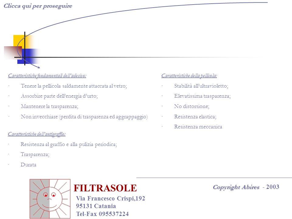 FILTRASOLE Clicca qui per proseguire Copyright Abires - 2003