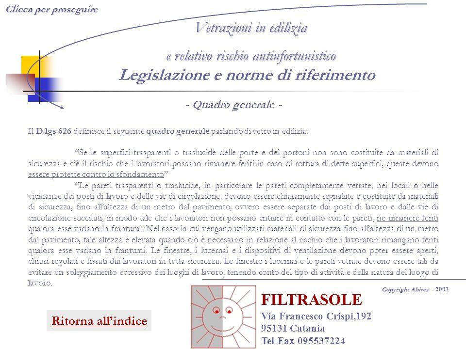 Legislazione e norme di riferimento