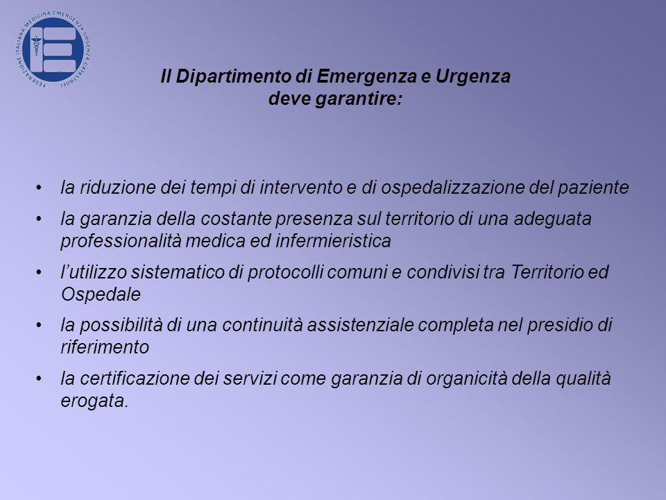 Il Dipartimento di Emergenza e Urgenza