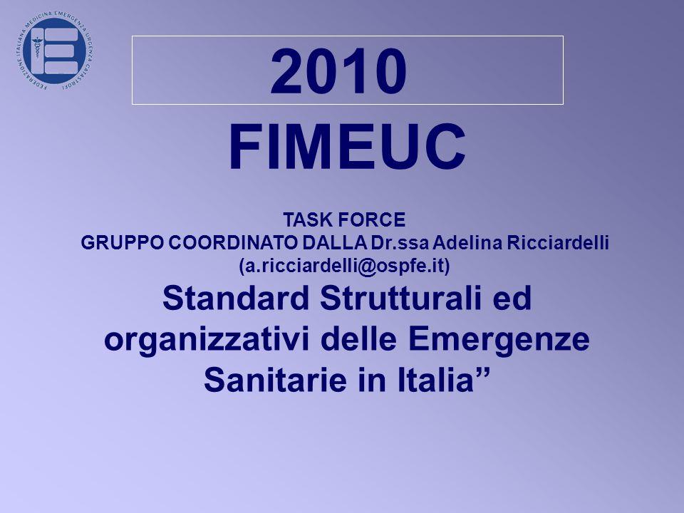 2010 FIMEUC. TASK FORCE. GRUPPO COORDINATO DALLA Dr.ssa Adelina Ricciardelli. (a.ricciardelli@ospfe.it)