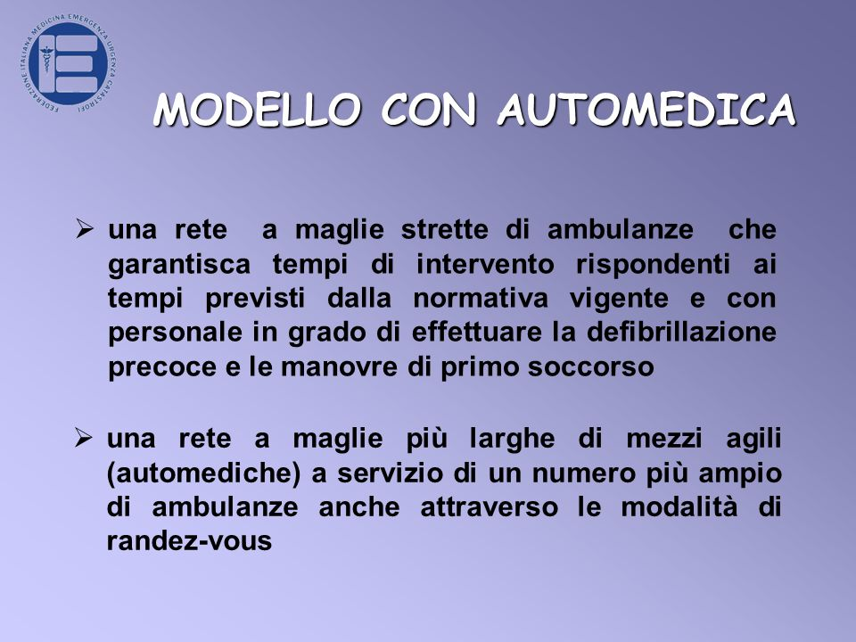 MODELLO CON AUTOMEDICA