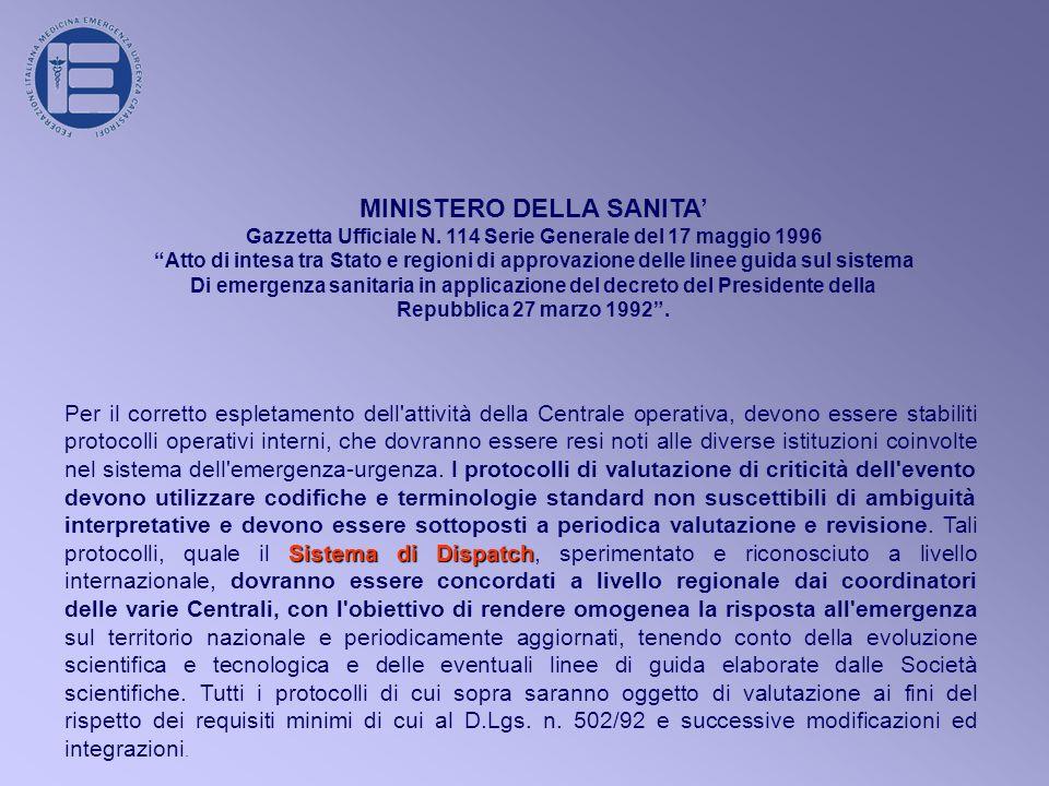 MINISTERO DELLA SANITA'