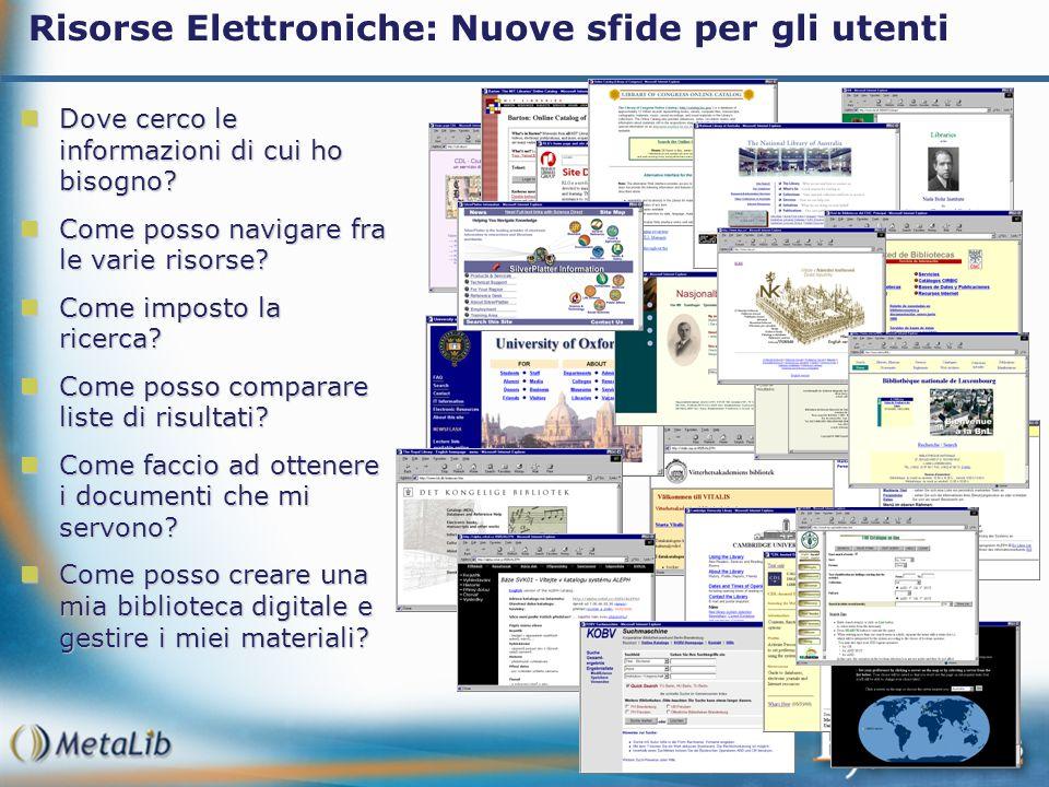 Risorse Elettroniche: Nuove sfide per gli utenti