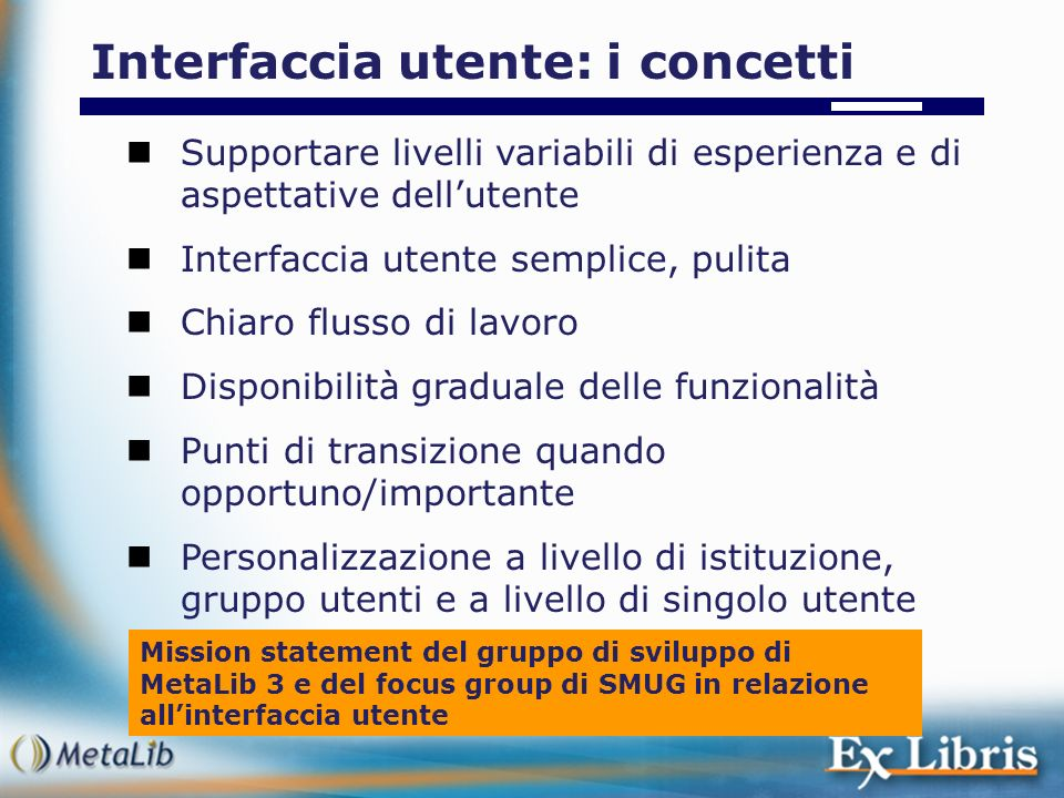 Interfaccia utente: i concetti