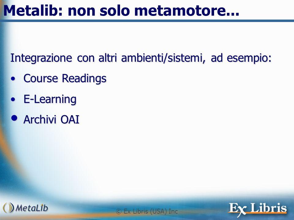 Metalib: non solo metamotore...