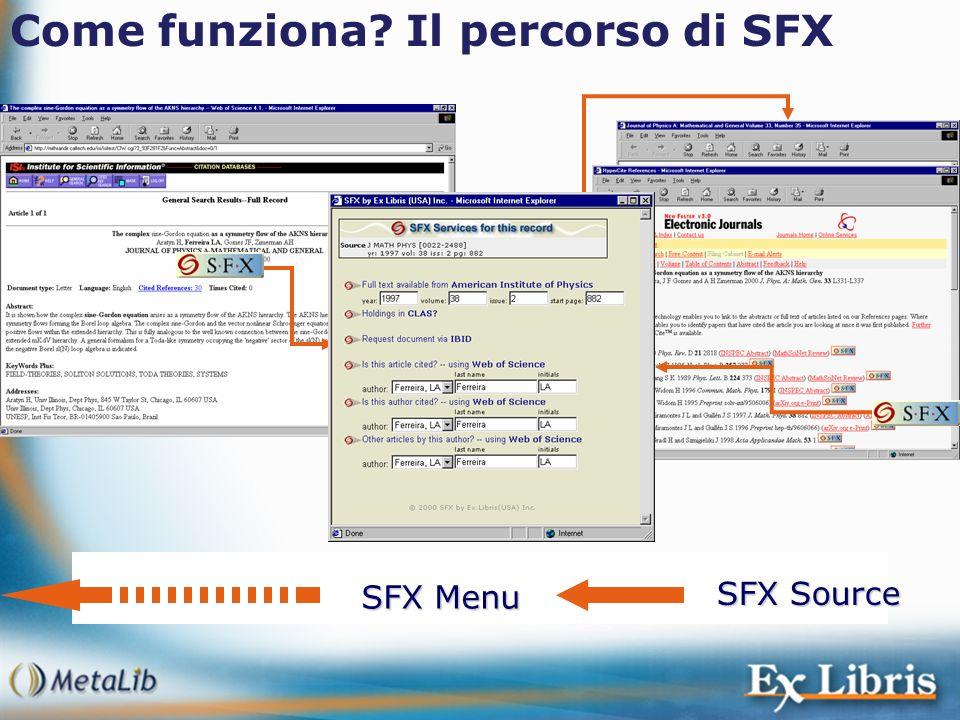 Come funziona Il percorso di SFX