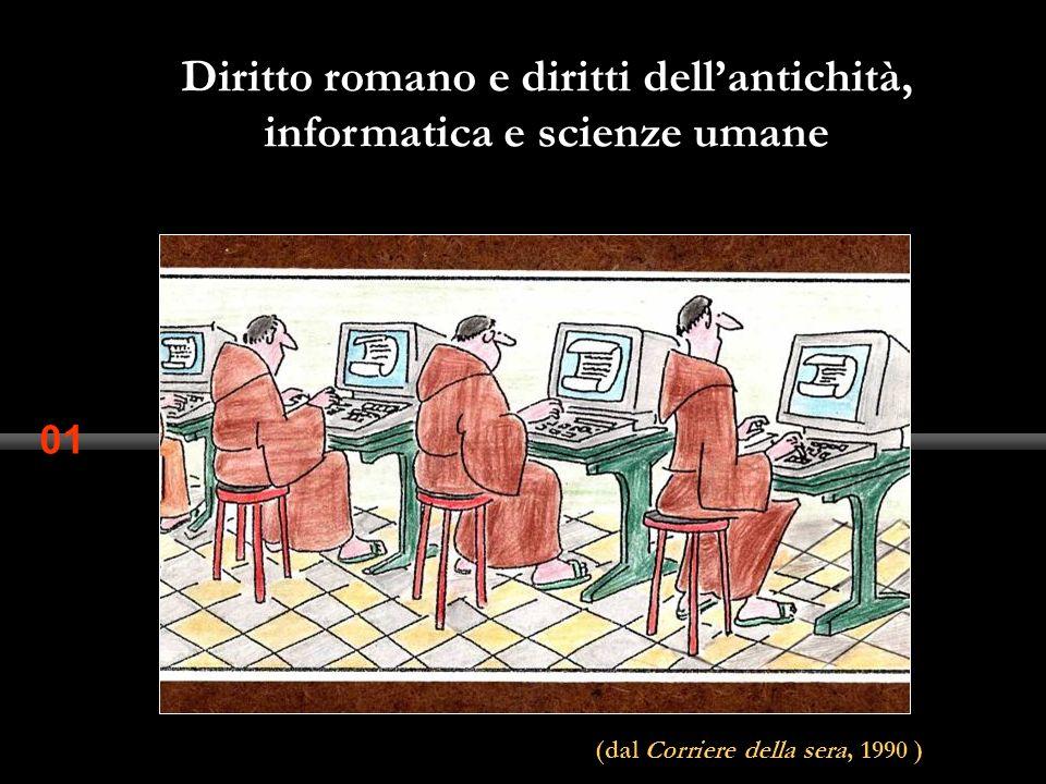 Diritto romano e diritti dell'antichità, informatica e scienze umane
