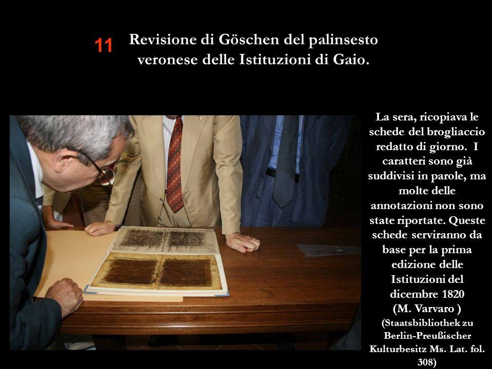 11 Revisione di Göschen del palinsesto