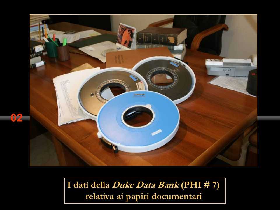 I dati della Duke Data Bank (PHI # 7) relativa ai papiri documentari