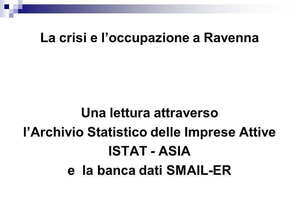 La crisi e l'occupazione a Ravenna