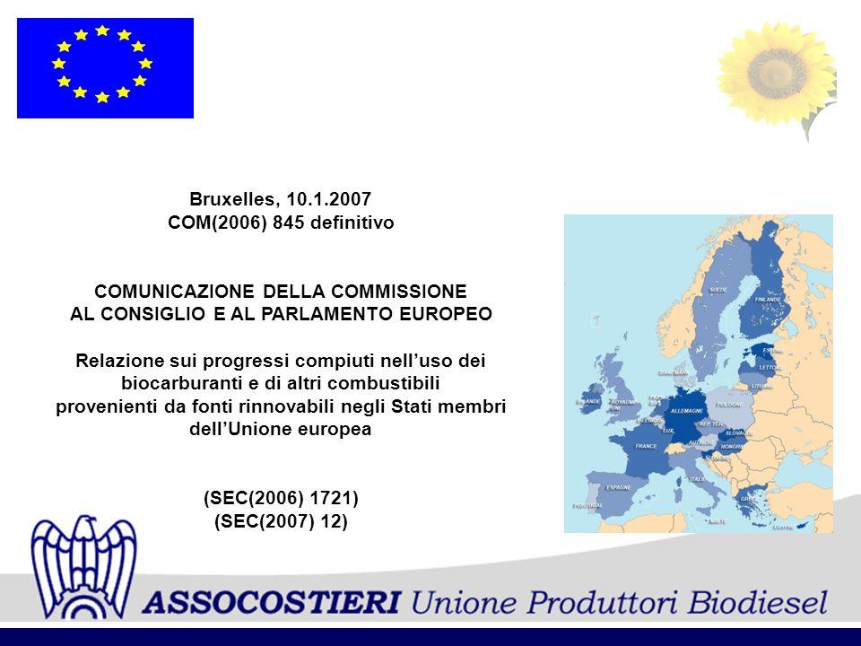 COMUNICAZIONE DELLA COMMISSIONE AL CONSIGLIO E AL PARLAMENTO EUROPEO
