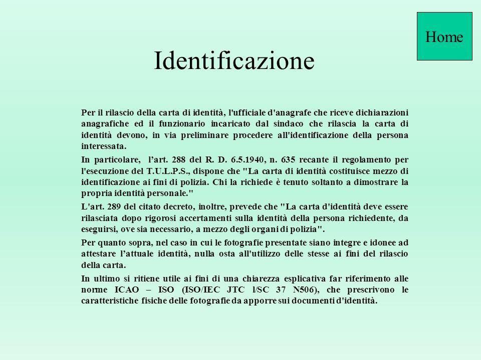 HomeIdentificazione.