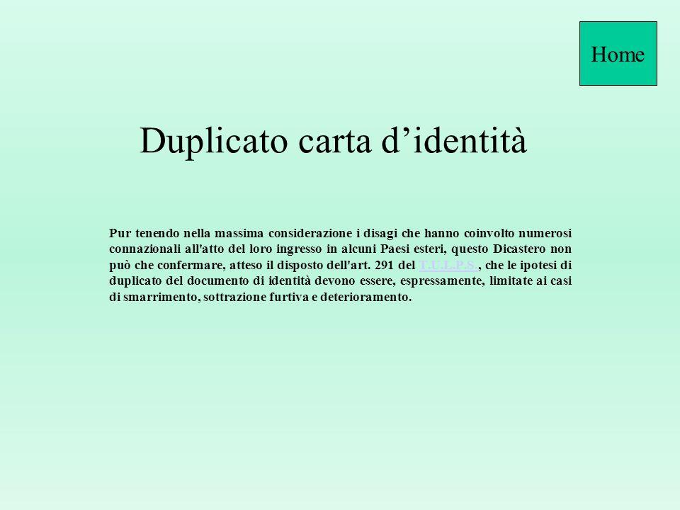 Duplicato carta d'identità