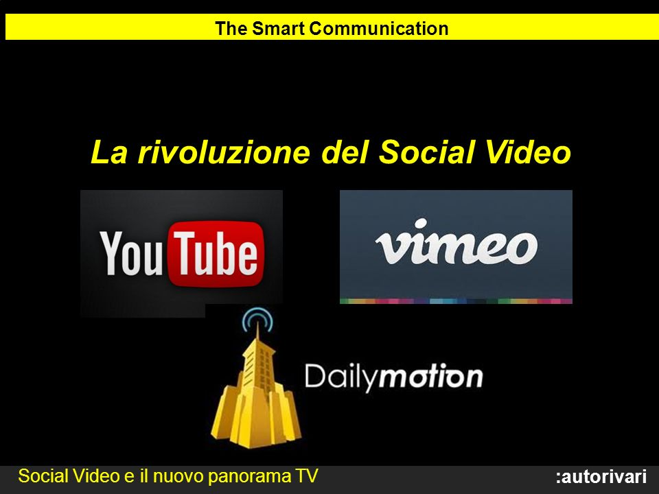 The Smart Communication La rivoluzione del Social Video