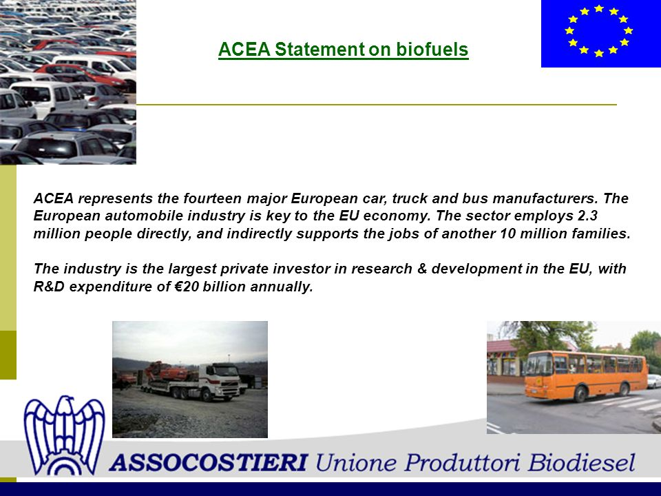 ACEA Statement on biofuels