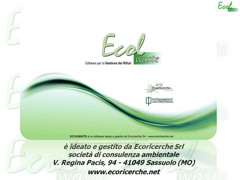 è ideato e gestito da Ecoricerche Srl società di consulenza ambientale