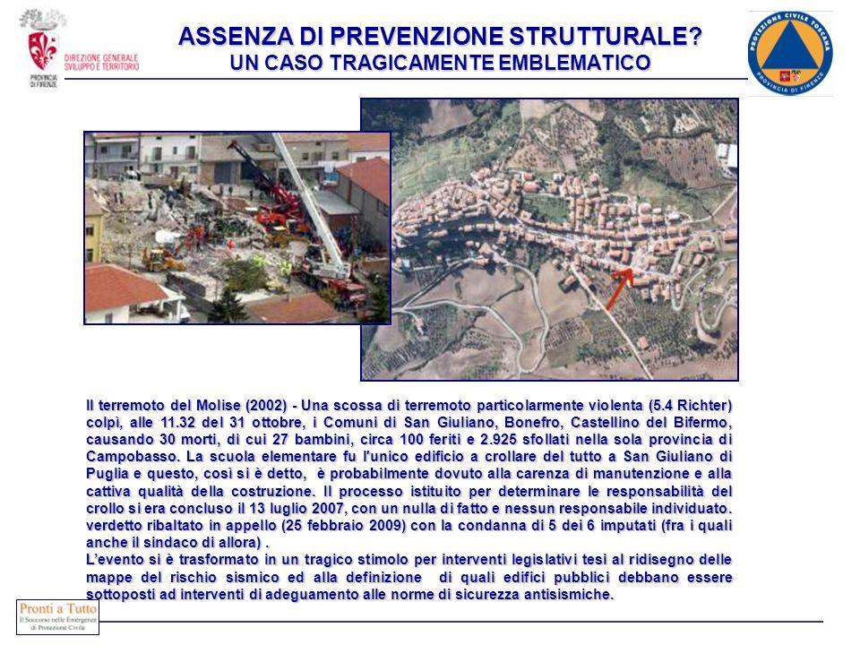 ASSENZA DI PREVENZIONE STRUTTURALE UN CASO TRAGICAMENTE EMBLEMATICO