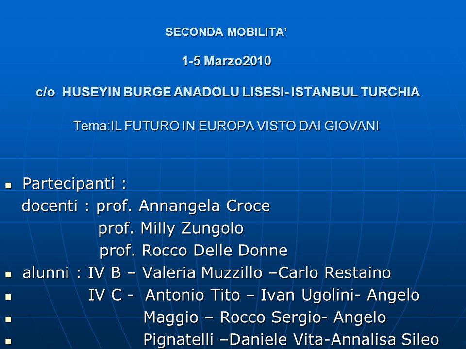 docenti : prof. Annangela Croce prof. Milly Zungolo