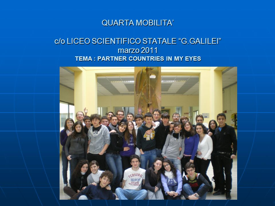 QUARTA MOBILITA' c/o LICEO SCIENTIFICO STATALE G