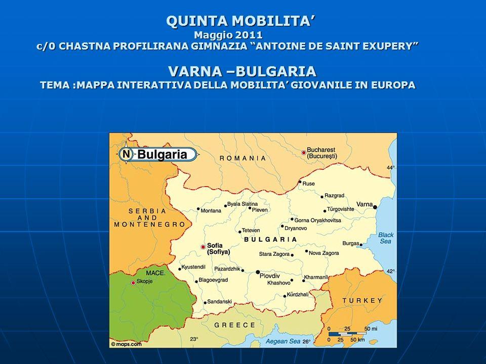 QUINTA MOBILITA' VARNA –BULGARIA Maggio 2011