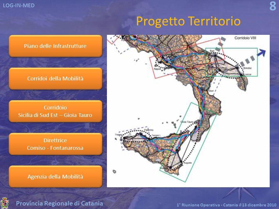 Progetto Territorio Piano delle Infrastrutture Corridoi della Mobilità