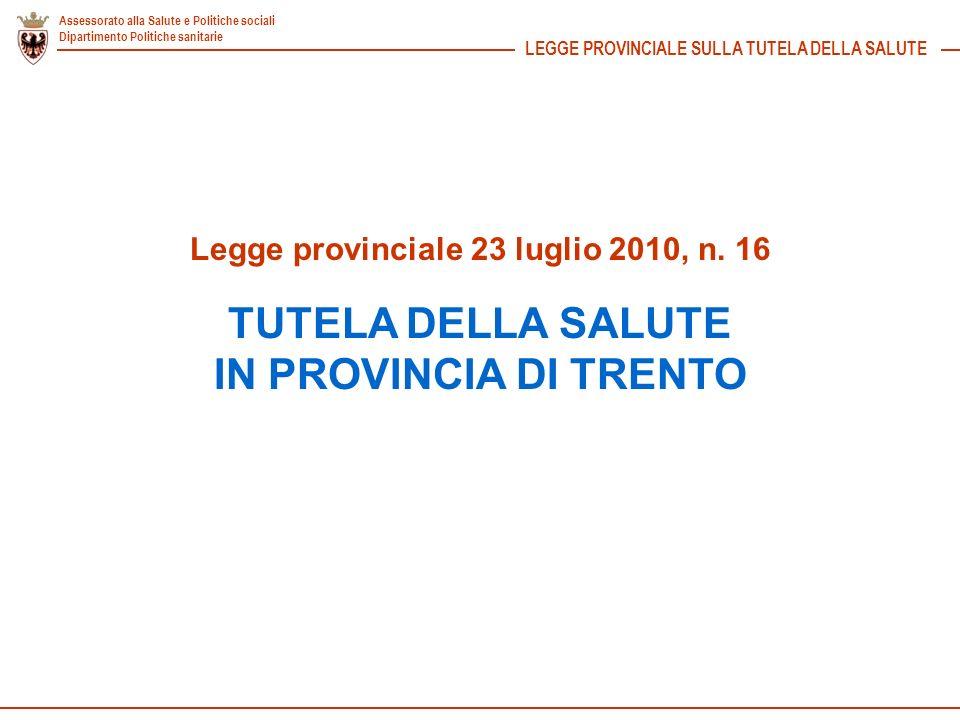 Legge provinciale 23 luglio 2010, n. 16