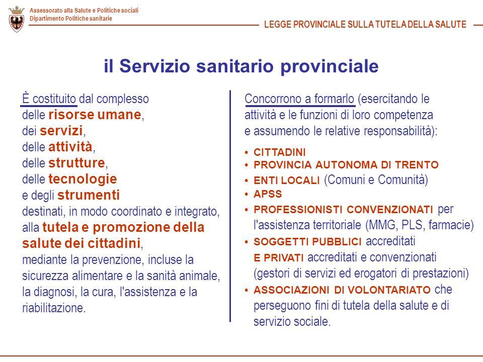 il Servizio sanitario provinciale
