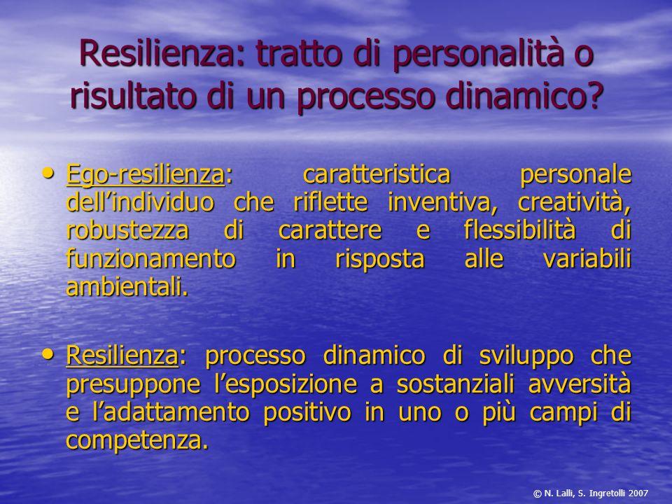 Resilienza: tratto di personalità o risultato di un processo dinamico