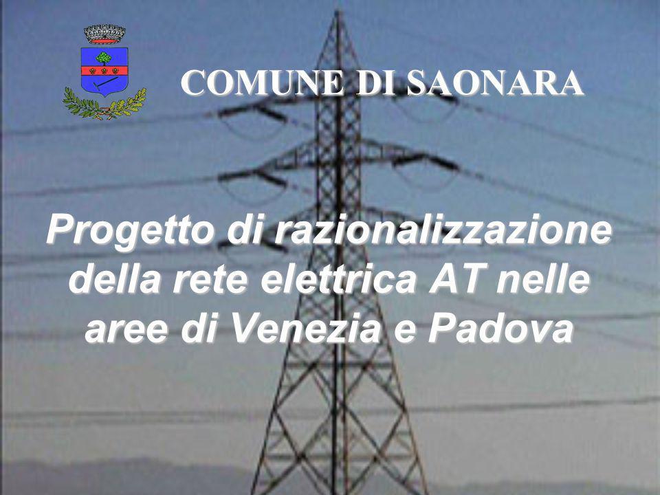 COMUNE DI SAONARA Progetto di razionalizzazione della rete elettrica AT nelle aree di Venezia e Padova.