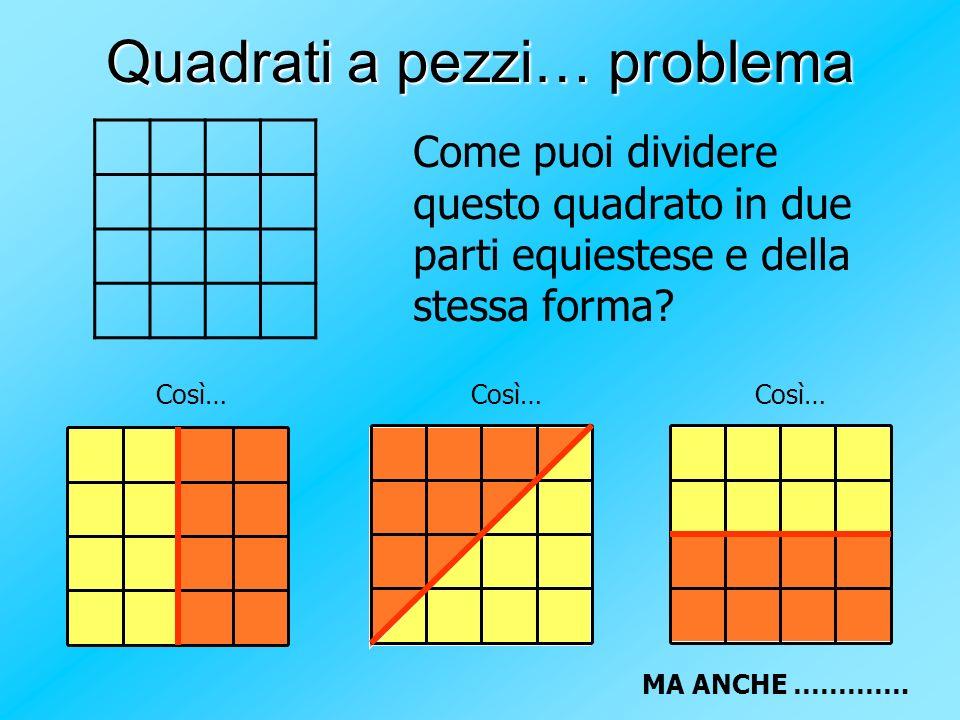 Quadrati a pezzi… problema