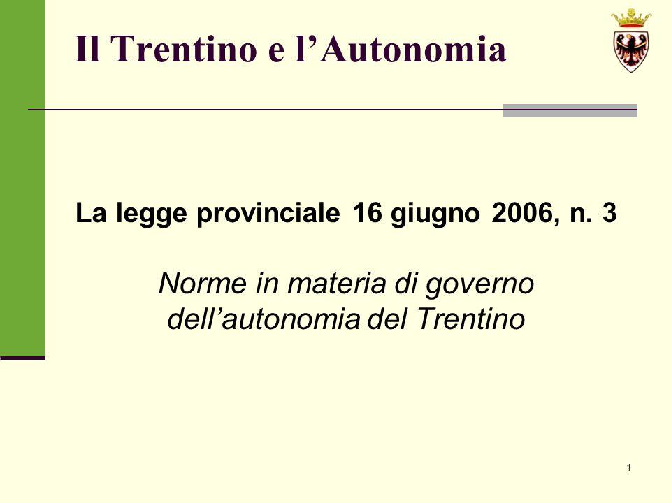 Il Trentino e l'Autonomia