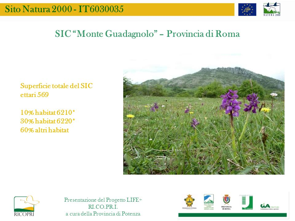 SIC Monte Guadagnolo – Provincia di Roma