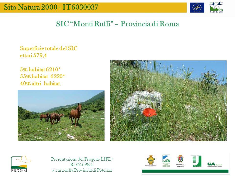 SIC Monti Ruffi – Provincia di Roma