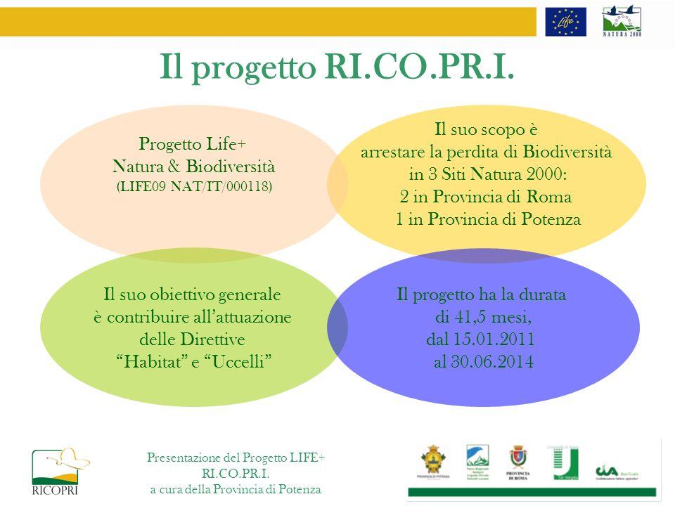 Il progetto RI.CO.PR.I. Progetto Life+ Natura & Biodiversità