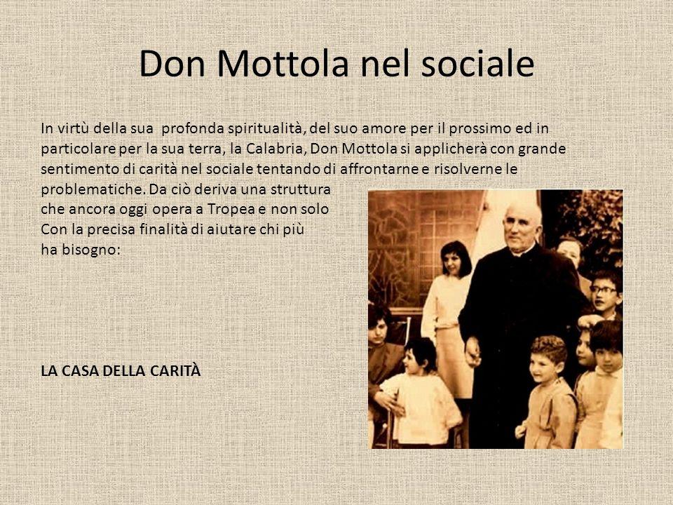 Don Mottola nel sociale