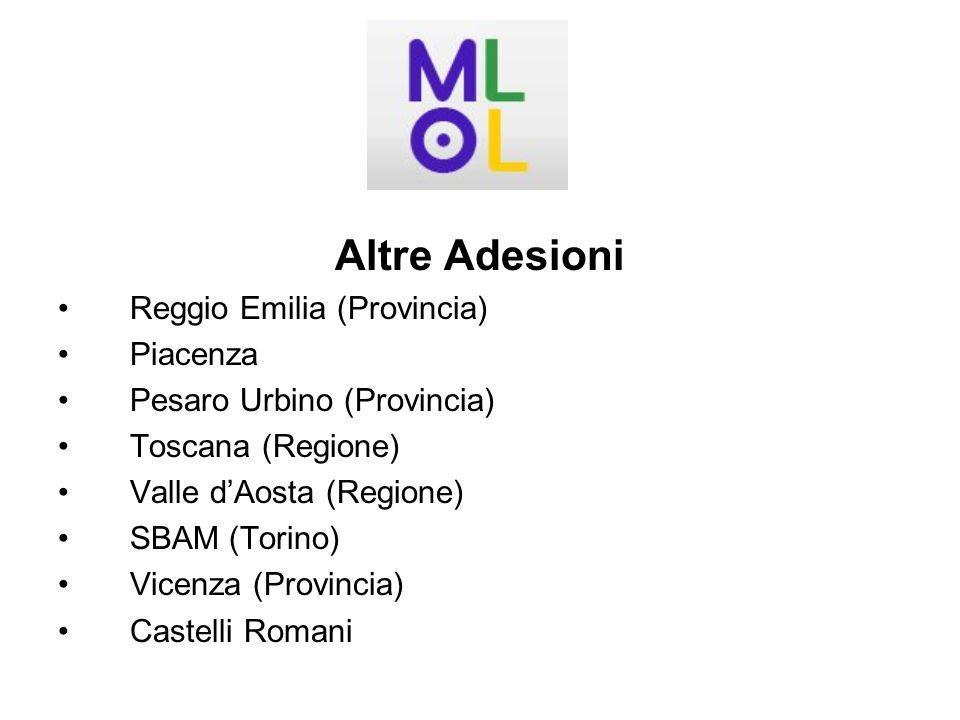 Altre Adesioni Reggio Emilia (Provincia) Piacenza