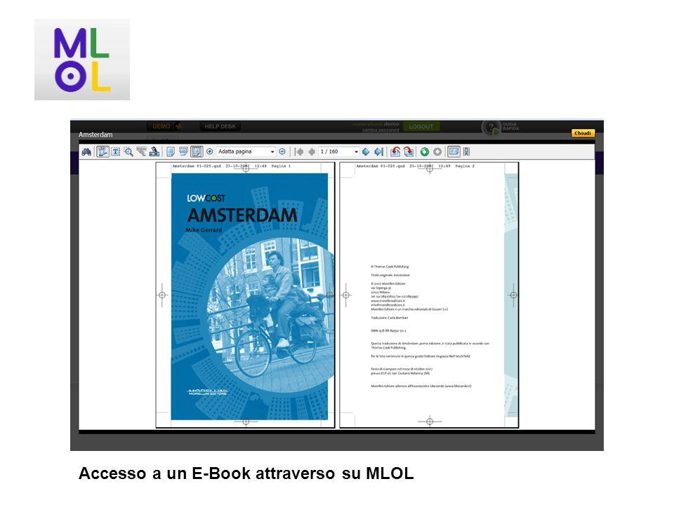 Accesso a un E-Book attraverso su MLOL