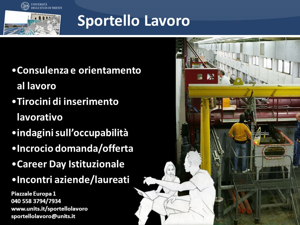 Sportello Lavoro Consulenza e orientamento al lavoro