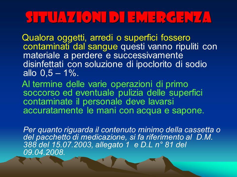 Situazioni di emergenza