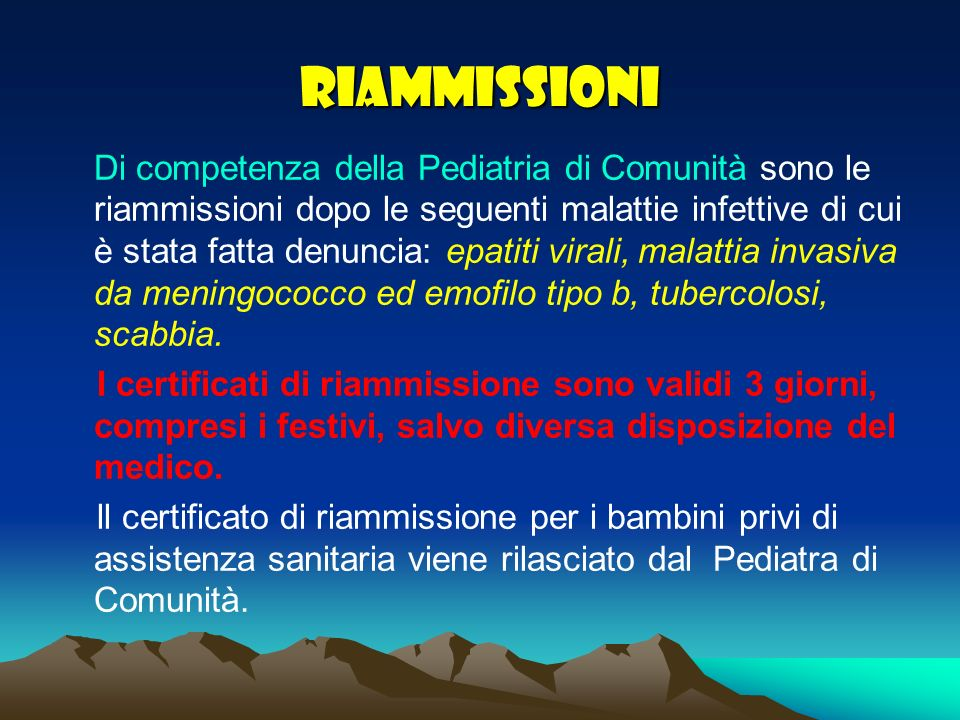 RIAMMISSIONI