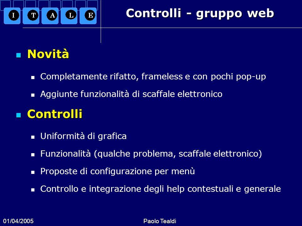 Controlli - gruppo web Novità Controlli