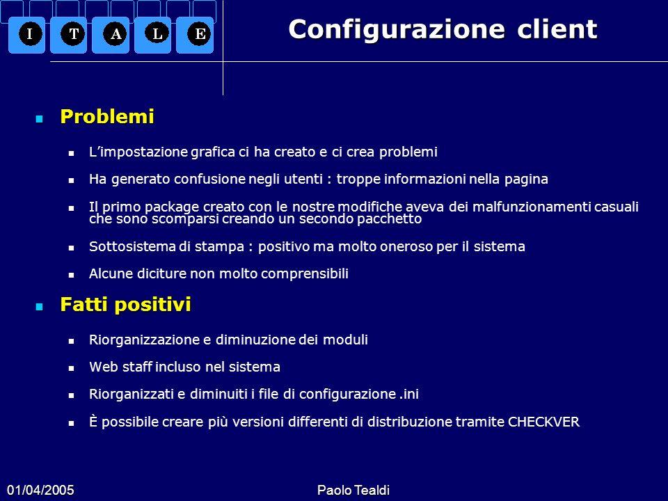 Configurazione client