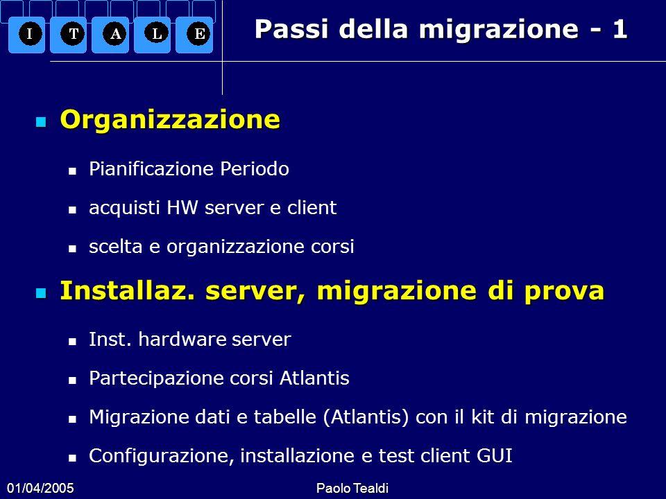Passi della migrazione - 1
