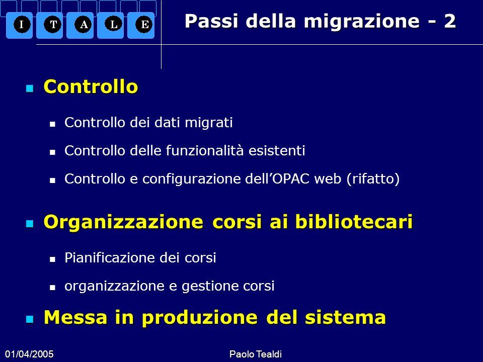 Passi della migrazione - 2