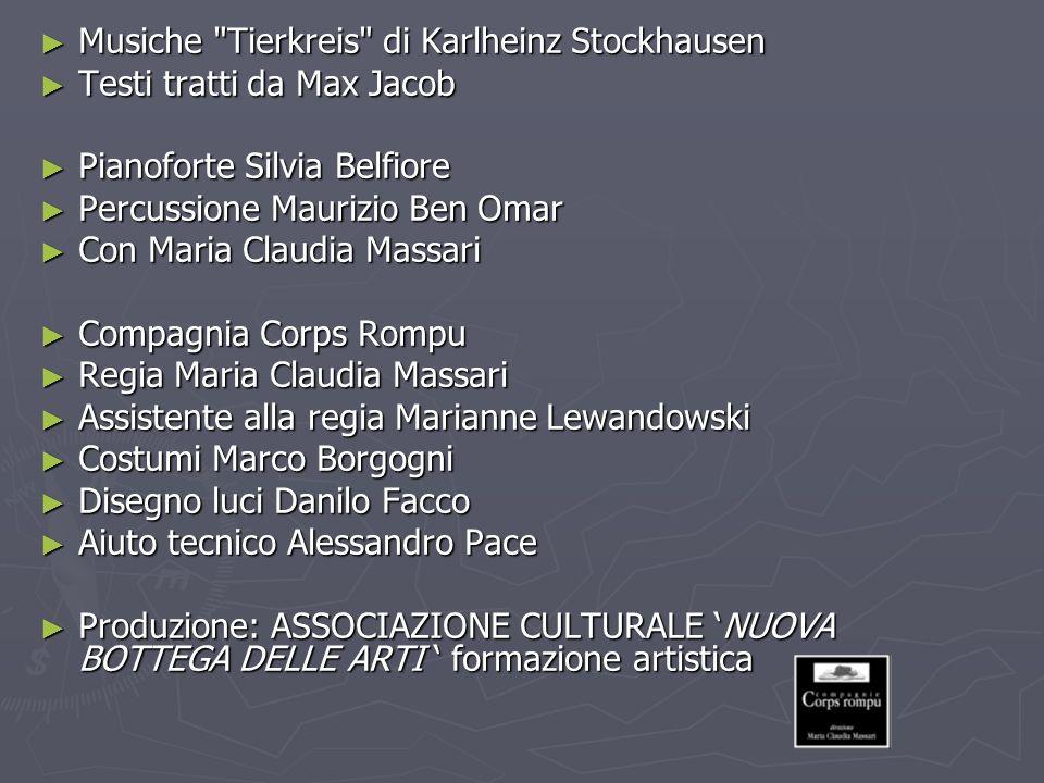 Musiche Tierkreis di Karlheinz Stockhausen