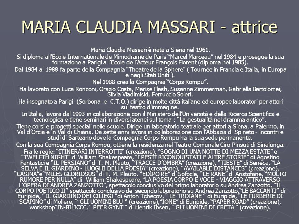 MARIA CLAUDIA MASSARI - attrice