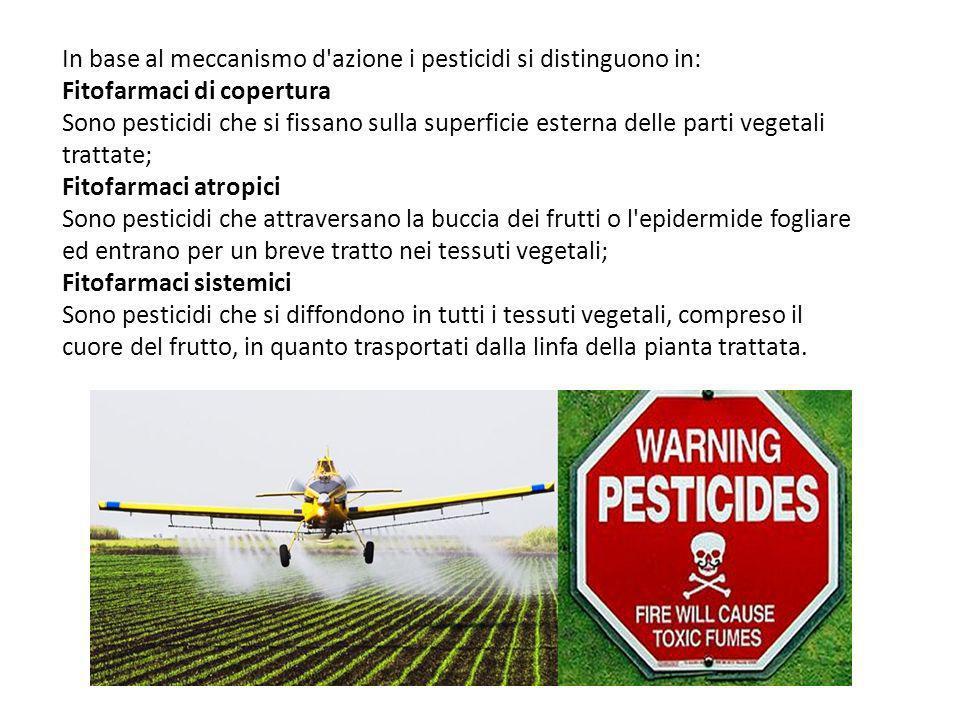 In base al meccanismo d azione i pesticidi si distinguono in: