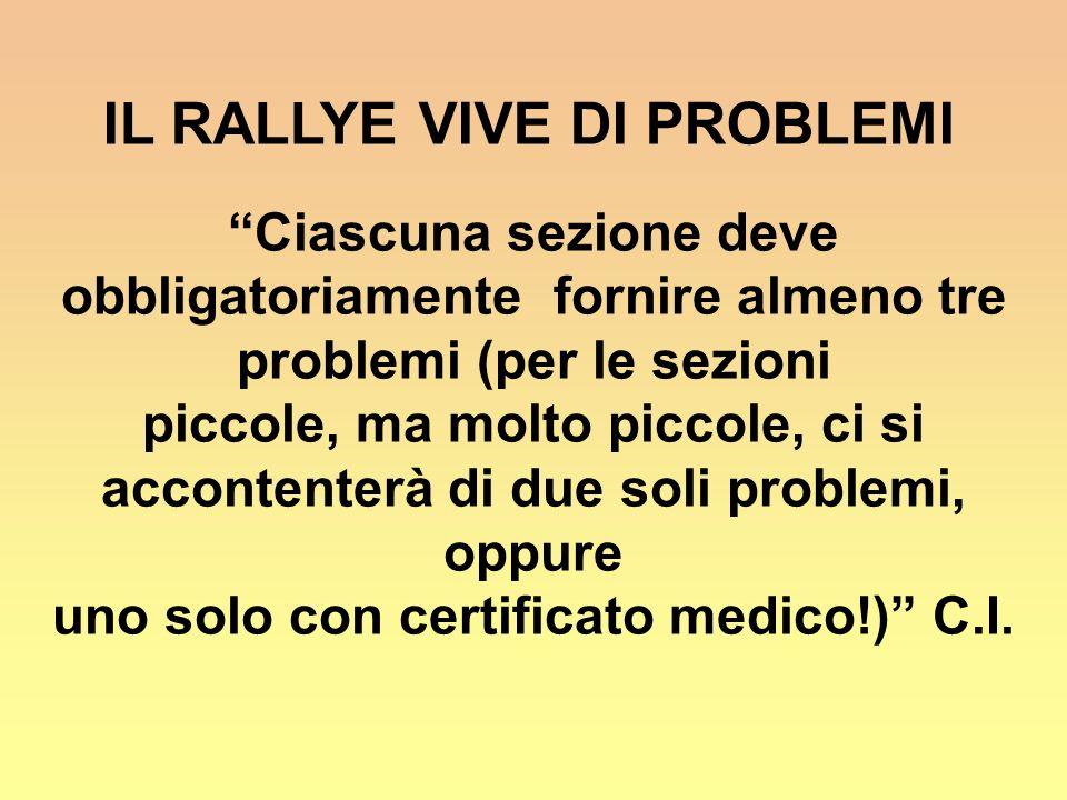 IL RALLYE VIVE DI PROBLEMI